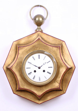 A French Gilt Wall Clock, Circa 1840