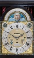 English Ebonised Musical Table Clock Rimbault 1750