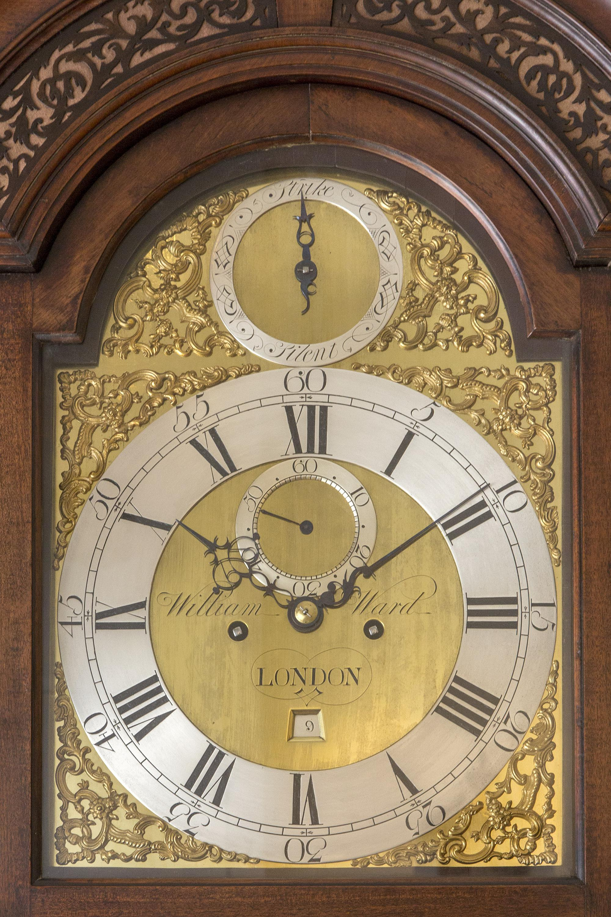 English Mahogany Longcase Clock Ward London 1760