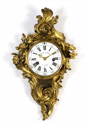A Fine French Louis XV Ormolu Cartel Clock J.B. Du Tetre, Circa 1740