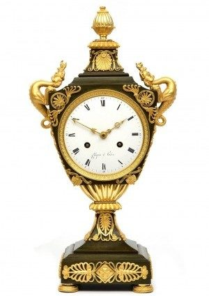 A French Empire Ormolu And Bronze Urn Mantel Clock, Chopin, Circa 1800