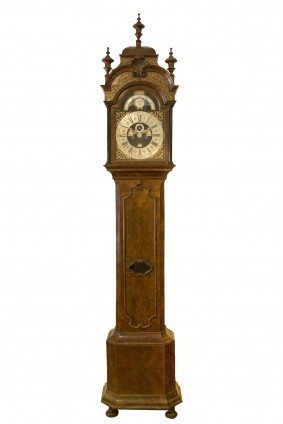 A Rare Dutch Walnut Longcase Clock, Gerrit Kramer, 1741