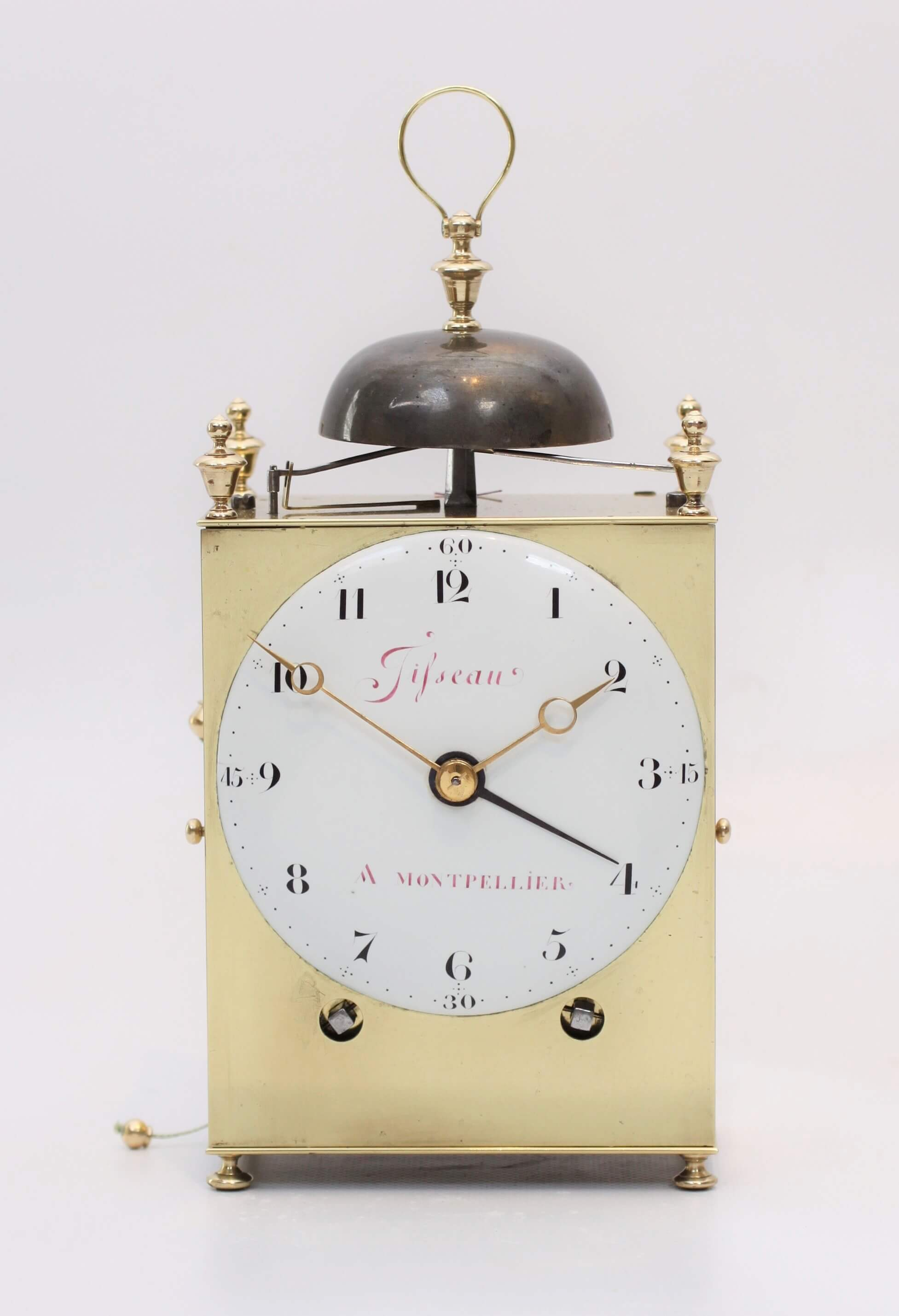 French Brass Capucine Repeater Carriage Clock Montpellier 1790