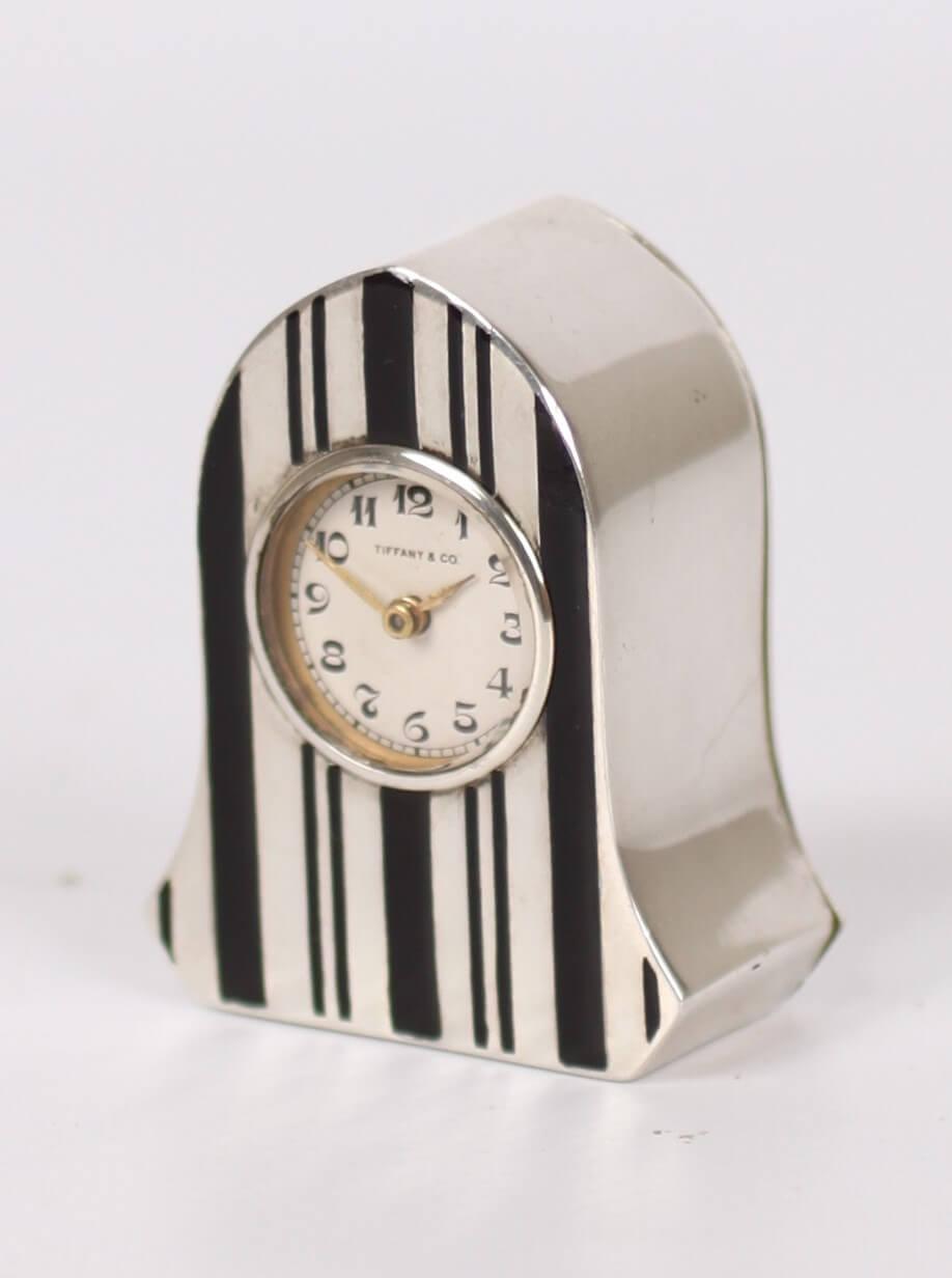 Swiss Silver Miniature Enamel Carriage Tiffany Boudoir 1925