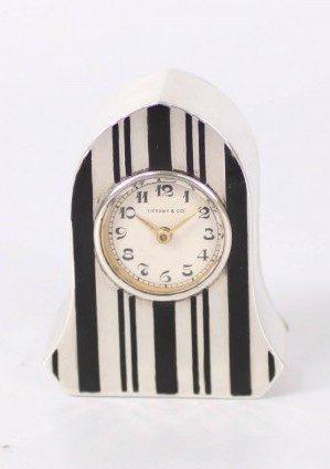 A Sub Miniature Silver Swiss Art Deco Timepiece, Tiffany & Co. Circa 1920