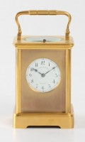 French Corniche Carriage Clock Grottendieck Repeater 1870