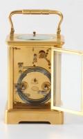 French Corniche Carriage Clock Grottendieck Repeater 1870