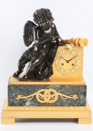 Een Franse Charles X Verguld Bronzen Pendule, Circa 1830