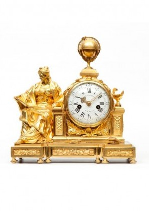 French Louis XVI Ormolu Mantel Clock Urania 1770