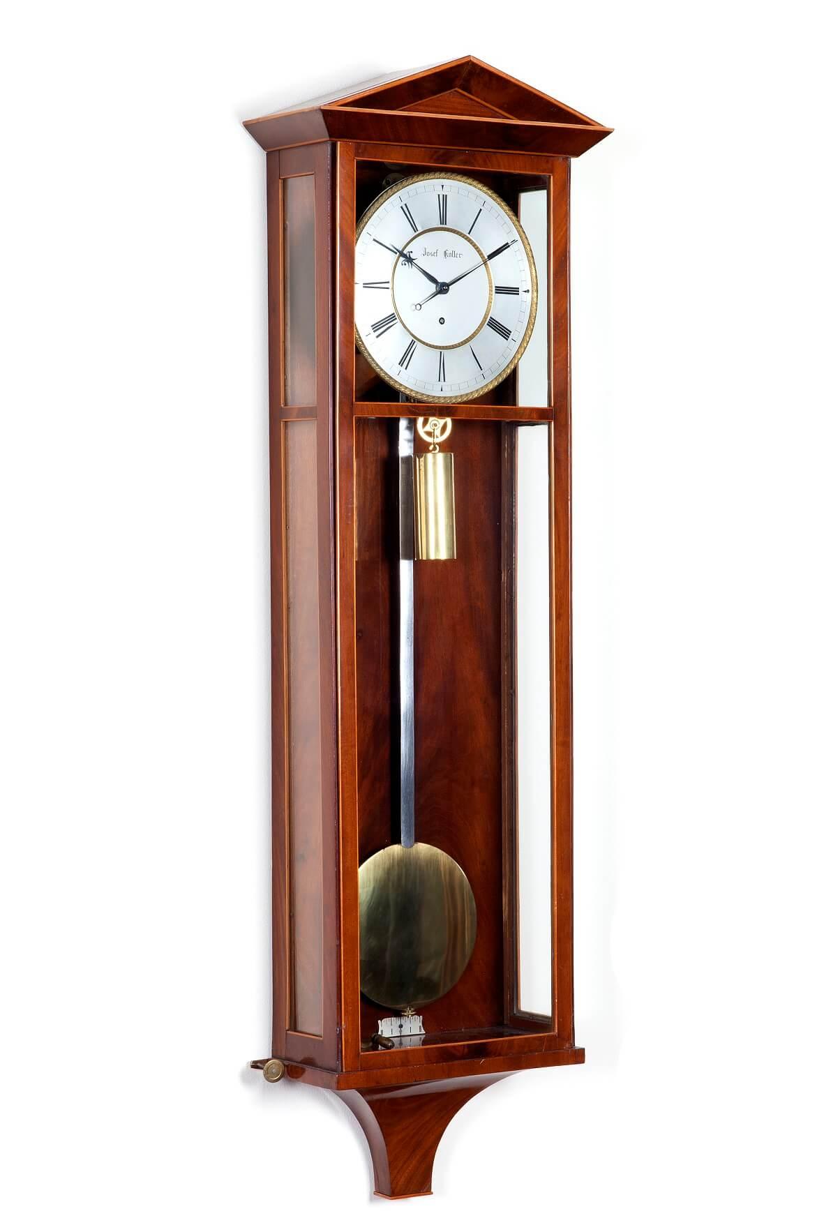Austrian Mahogany Dachluhr Regulator Koller Clock 1830