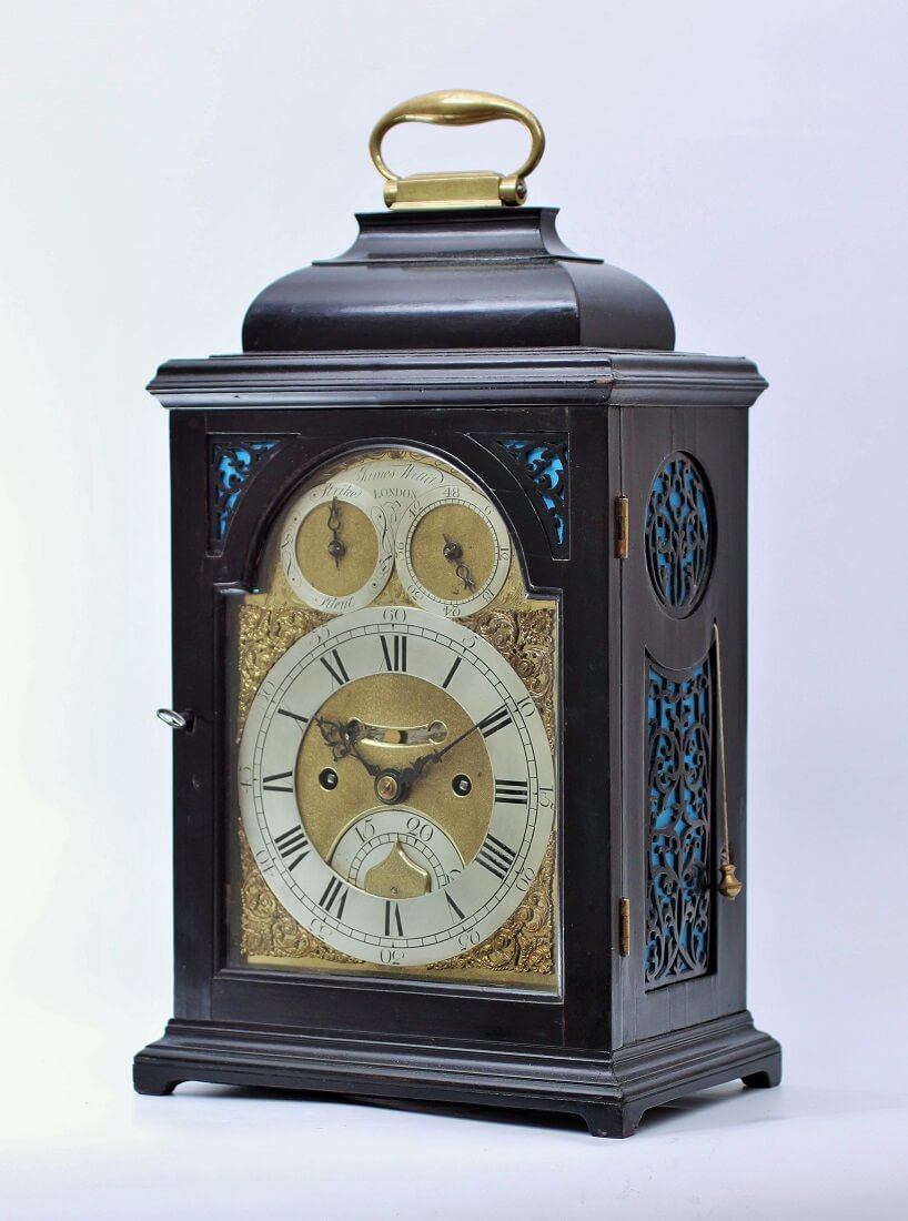 English table clock quarter repeat James Wittit 1740