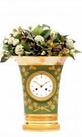 French Empire Sevres Porcelain Urn Mantel Clock 1800