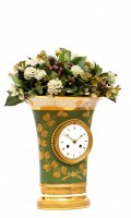 French Empire Sevres Porcelain Urn Mantel Clock 1800