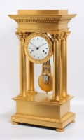 French Charles X Ormolu Portico Regulator Bled 1830