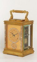 French Anglaise Carriage Clock Cut Crystal Repeater 1890