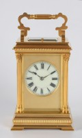 French Corinthian Carriage Clock Jacot Repeater 1890