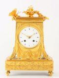 French Empire Ormolu Mantel Clock Butterfly 1800
