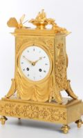 French Empire Ormolu Mantel Clock Butterfly 1800