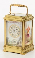 French Gorge Carriage Clock Porcelain Repeater 1880