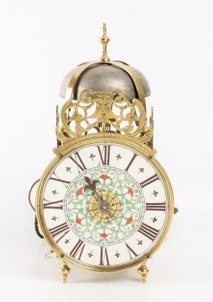 French Lantern Wall Clock Porcelain Dial 1740