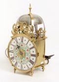 French Lantern Wall Clock Porcelain Dial 1740