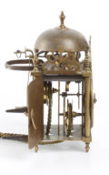 French Miniature Lantern Wall Clock Enamel 1750