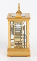 French Gilt Brass Anglaise Carriage Clock Repeater 1880