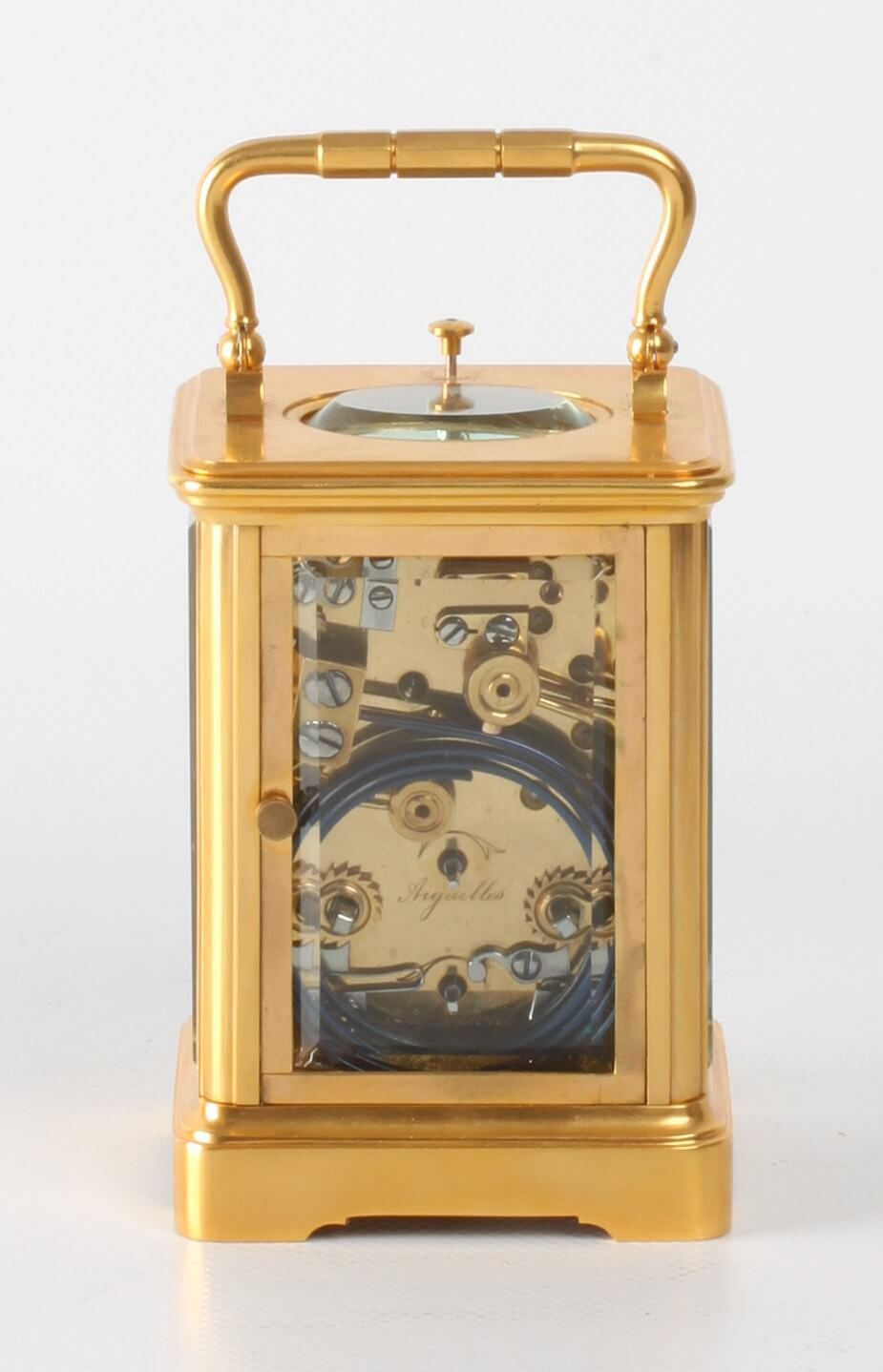 French Corniche Quarter Striking Margaine Carriage Clock 1880