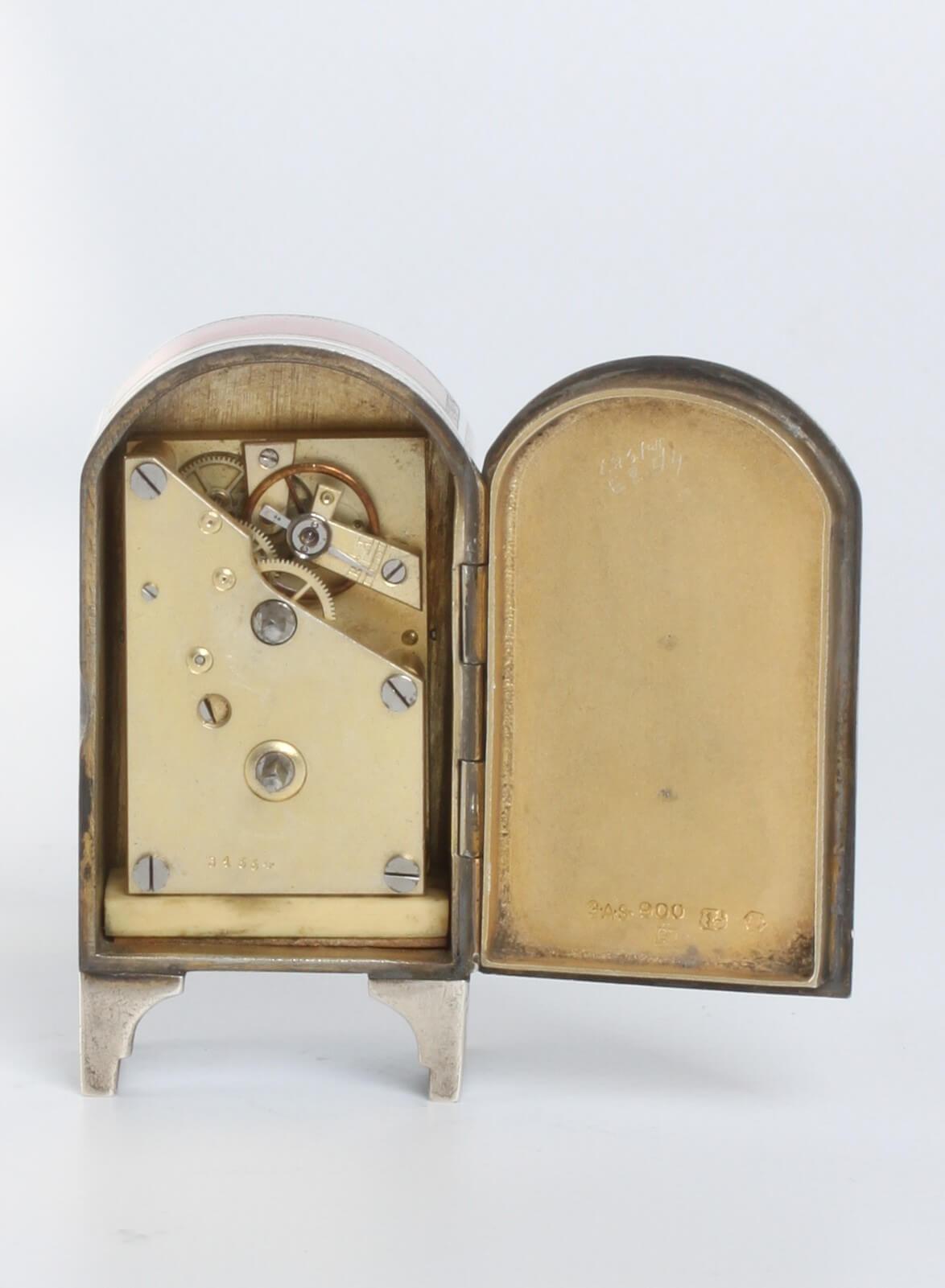 Swiss Miniature Silver Guilloche Enamel 1900