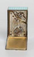 Swiss Miniature Silver Blue Guilloche Enamel Timepiece 1900