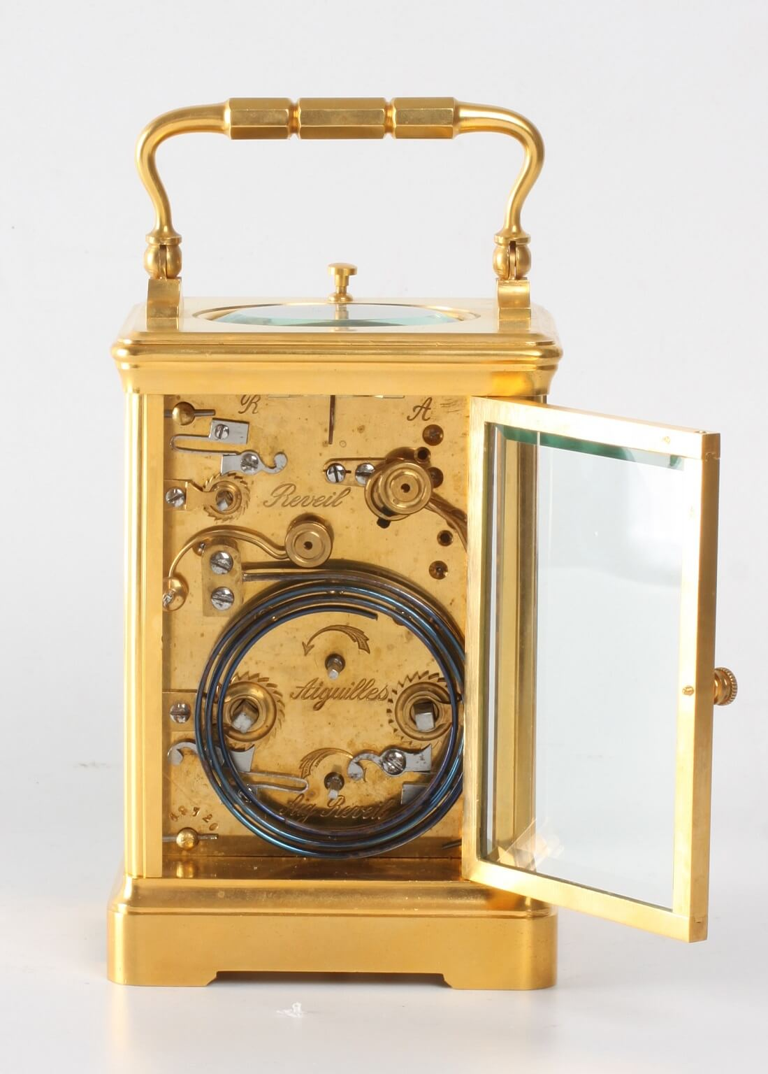 Frenchgilt Quarter Striking Corniche Carriage Clock 1880