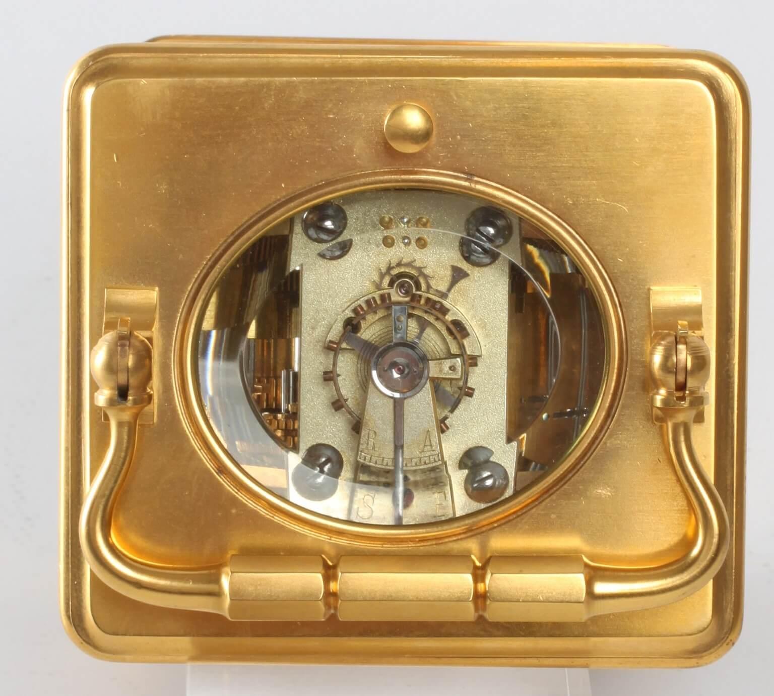 Frenchgilt quarter striking corniche carriage clock 1880