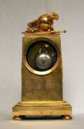 French Empire Ormolu Mantel Clock War Peace 1800