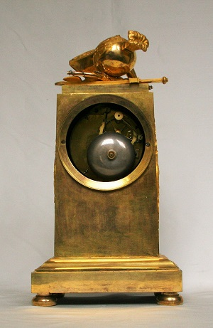French Empire Ormolu Mantel Clock War Peace 1800
