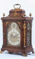 English Mahogany Table Clock Pritchard 1770