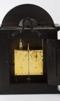 French Religieuse Wall Clock Ebonised St Blimon 1680