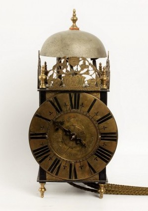 French Lantern Iron Brass Wall Clock Gouchon 1720