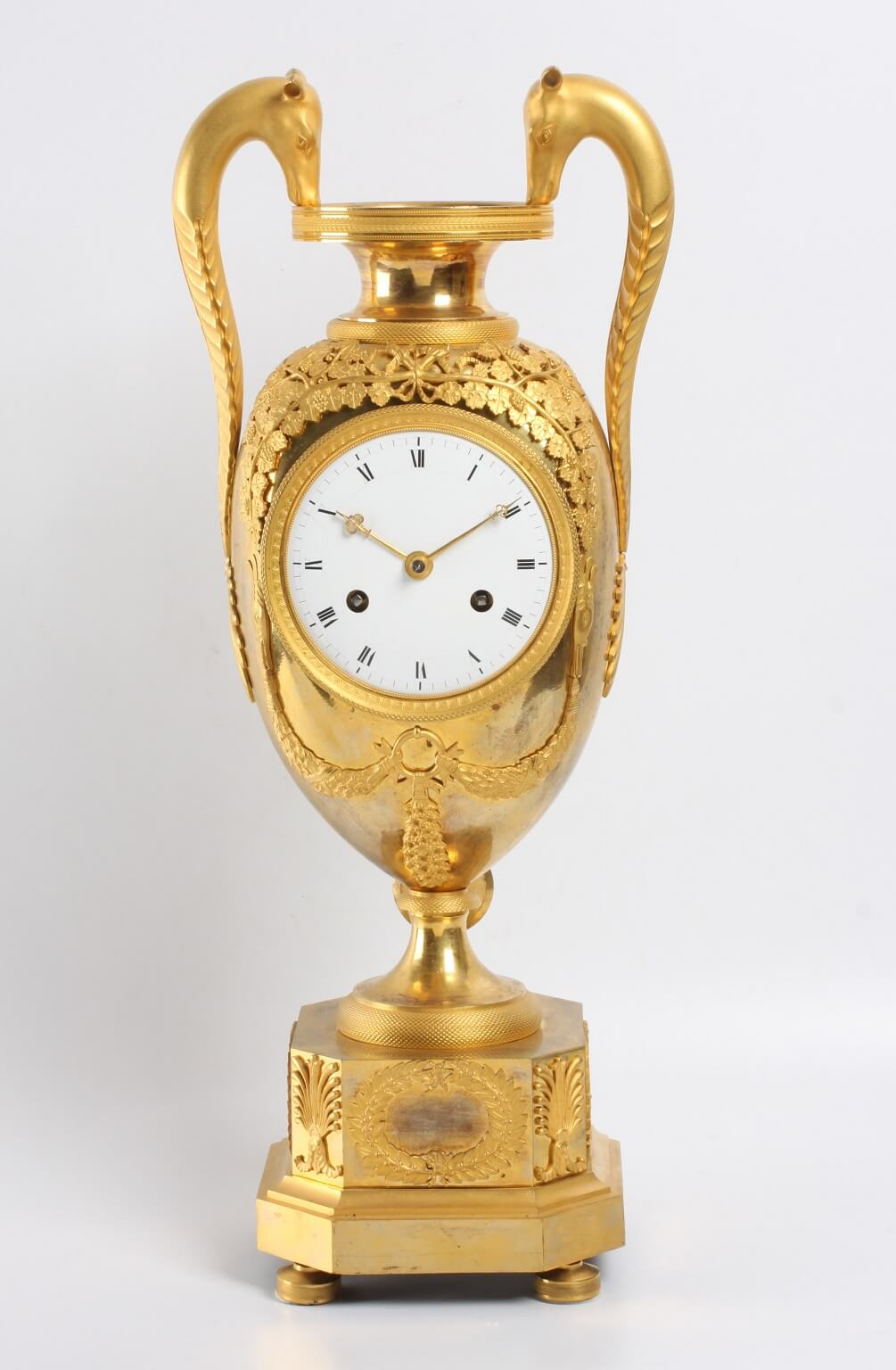 French Empire Ormolu Urn Mantel Clock Mythical 1800