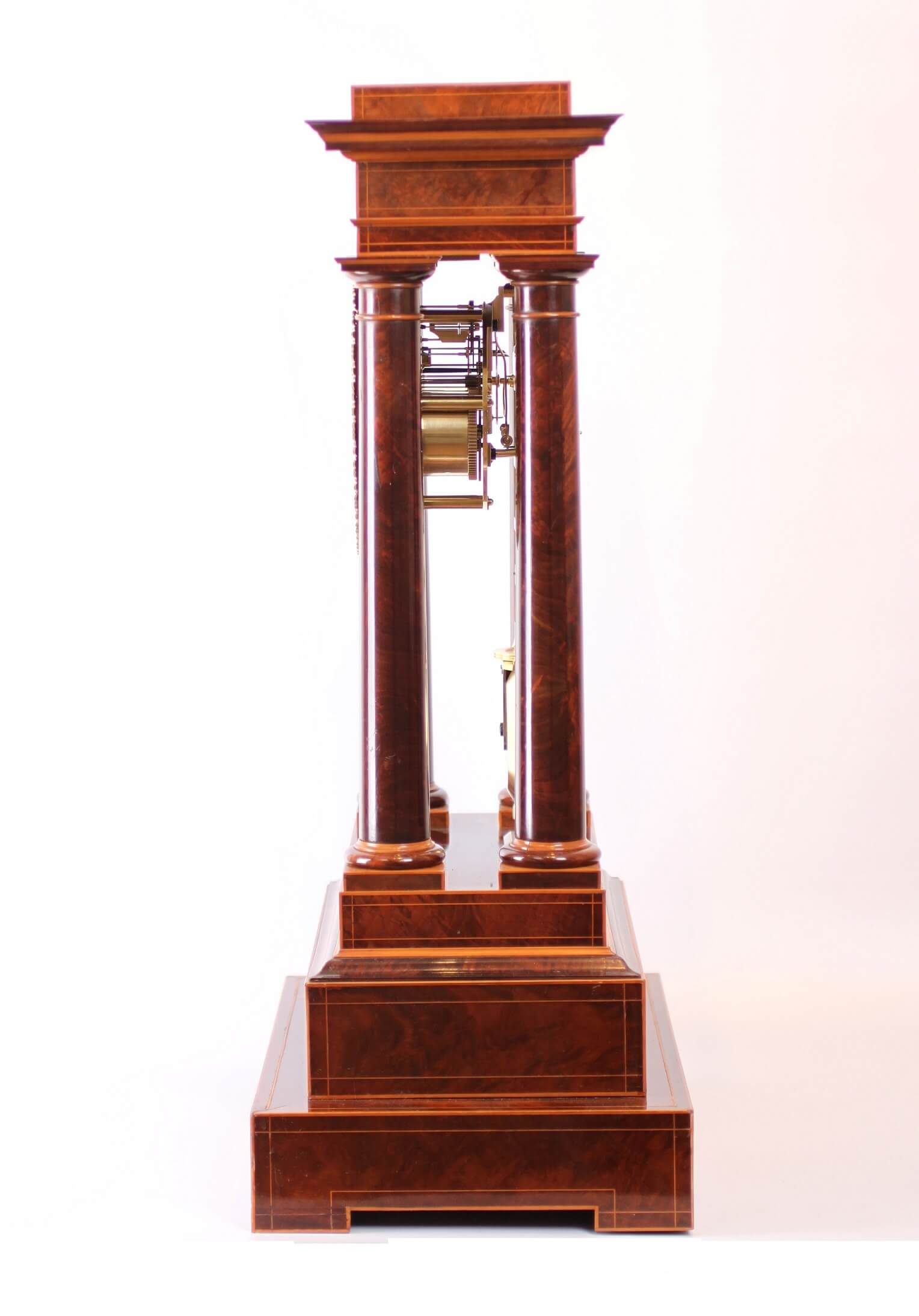 A Large French Charles X Mahogany Table Regulator A