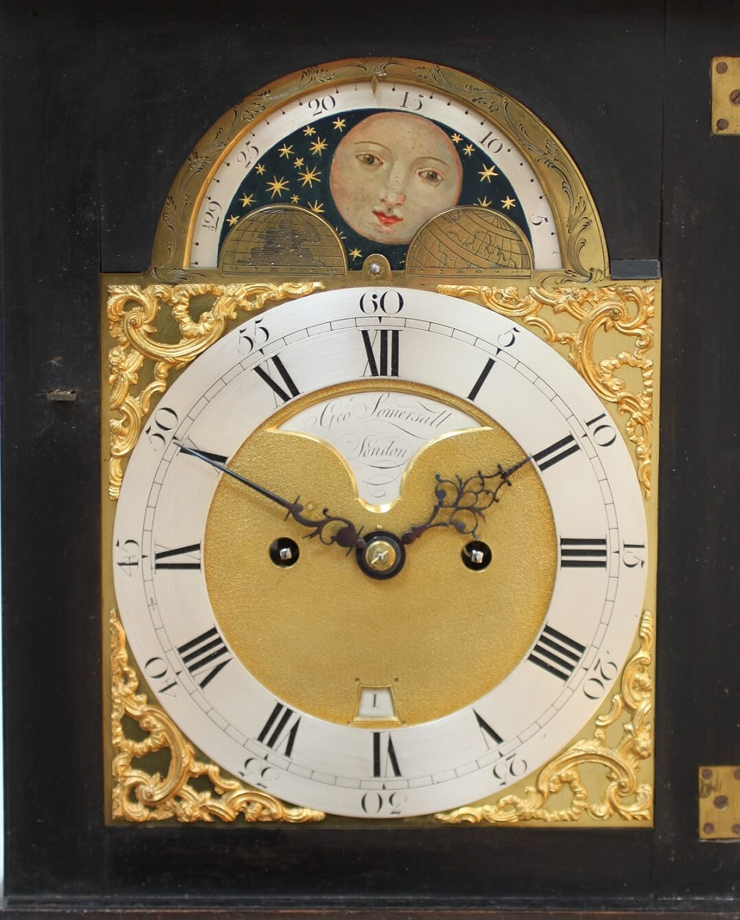 English Dutch Market Striking Repeat Moonphase Bracket Clock 1770