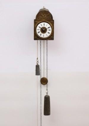 Een Miniatuur Duits 'Sorg'-klokje Met Wekker, Circa 1845