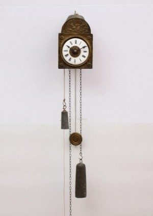 A Miniature German 'Sorg' Alarm Wall Timepiece, Circa 1845