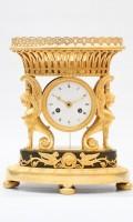 French Empire Ormolu Urn Mantel Clock Griffin Circa 1800