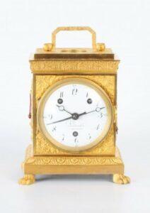 Swiss ormolu grande sonnerie pendule officier 1800