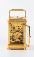 French Gorge Carriage Clock Repeater Alarm 1880