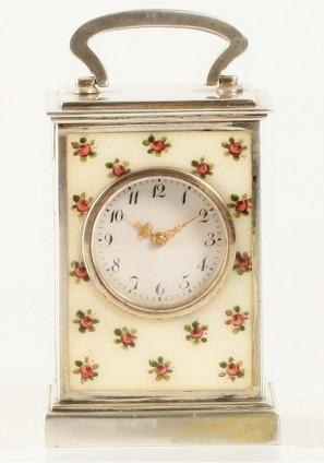 A Sub Miniature Swiss Guilloche Enamel Timepiece, Circa 1900