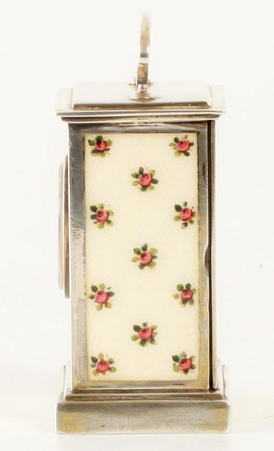 Swiss Miniature Silver Guilloche Enamel Flowers 1900