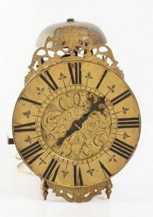 An Engraved French Alarm Lantern Timepiece, Circa 1740