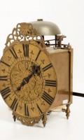 French Brass Lantern Alarm Wall Clock 1720
