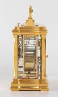 French Gilt Carriage Clock Jugendstil Repeater Frost 1890